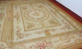 6 x8 wool hand woven shabby chic french style aubusson area rug carpet yellow ivory in rug from