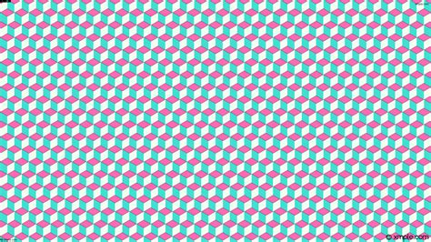 wallpaper pink turquoise wallpaper 3d cubes blue white pink ff69b4 40e0d0 f0fff0