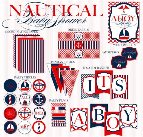 Nautical Baby Shower Printables Free by 9 Best Images Of Free Printable Banner Nautical Baby