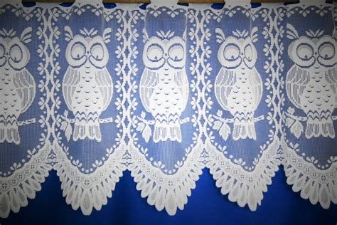 owl curtains uk barnsley owl white cafe curtain net curtain 2 curtains
