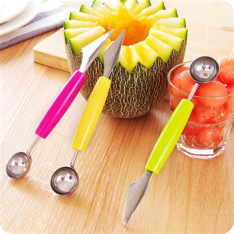 Fruits Spoon Baller creative fruit carving knife watermelon baller