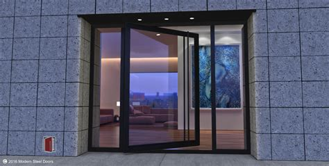 modern steel doors custom pivot doors glass doors