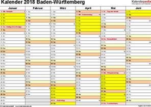 Kalender 2018 Ferien Feiertage Bw Kalender 2018 Baden W 252 Rttemberg Ferien Feiertage Excel
