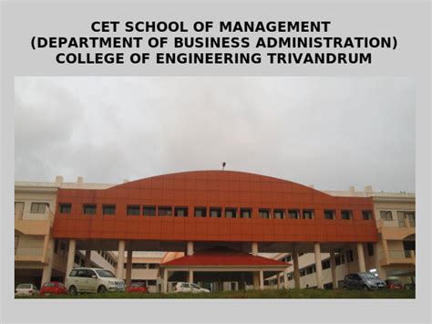 Haskayne School Of Business Mba Admission Requirements by Coe Trivandrum Announces Mba Admissions 2014 Careerindia