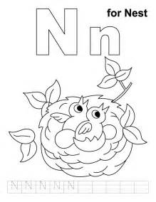 letter n coloring page letter n coloring pages az coloring pages