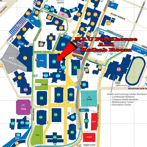 nau map northern arizona cus map car interior design