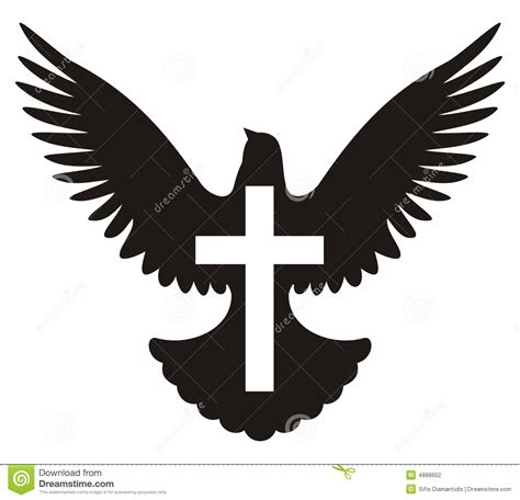 dove with cross symbol stock photography image 4888602