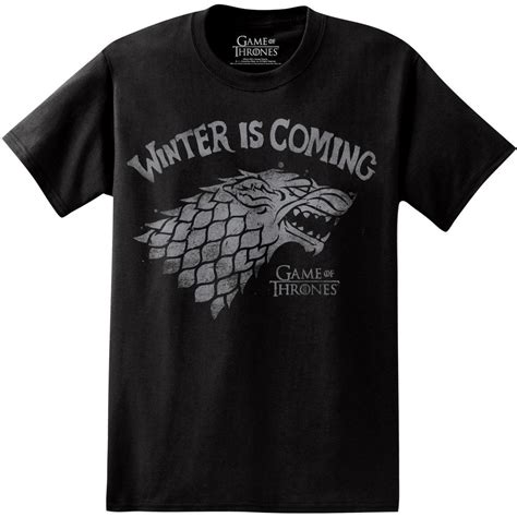 Tshirt Winter Is Coming New of thrones winter is coming wolf stark s licensed