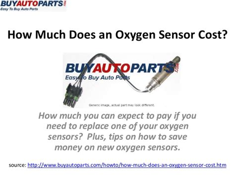 how much does an oxygen sensor cost
