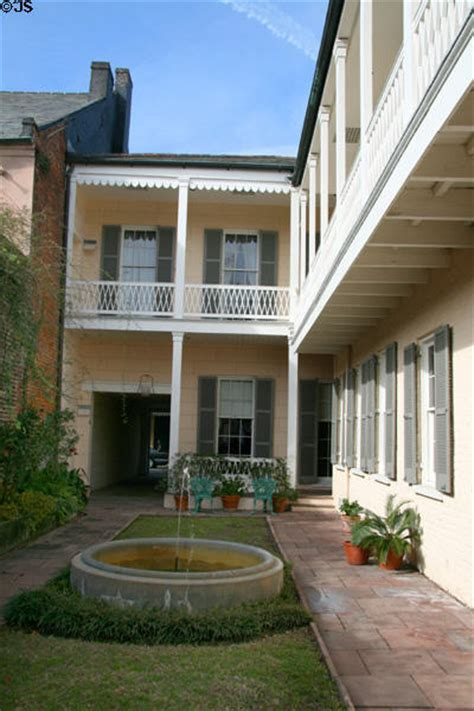 Gallier House New Orleans by Courtyard Of Gallier House New Orleans La