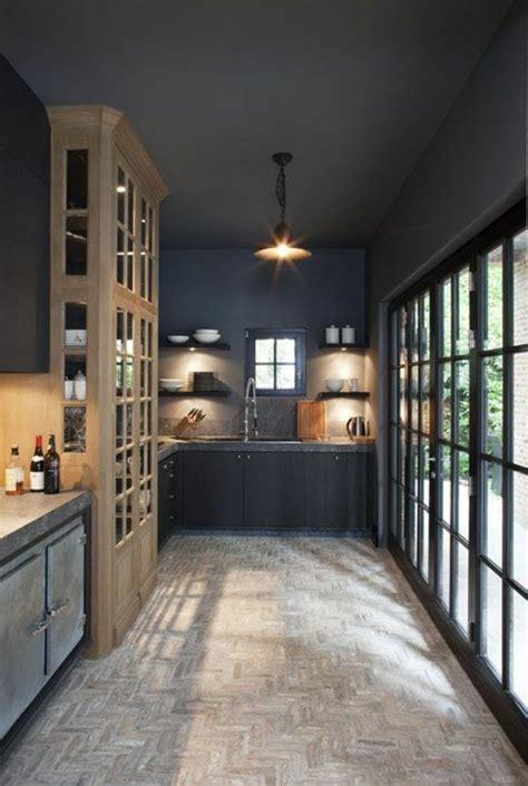 Ordinaire Quel Carrelage Pour Cuisine #7: jolie-cuisine-de-couleur-gris-anthracite-peinture-gris-anthracite-interieur-gris.jpg