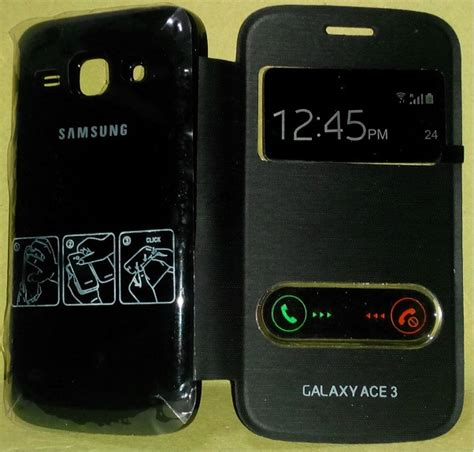 Casing Hp Ace 3 jual jual flip cover samsung galaxy ace 3 with call id view magnet free warna hitam