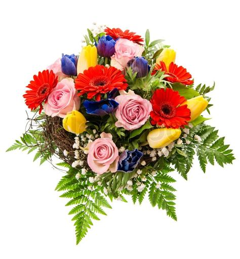 colorful spring flowers bouquet fresh colorful spring flowers bouquet stock photo