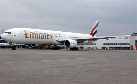 emirates glasgow boeing 777 airliner aircraft airplane plane jet 50