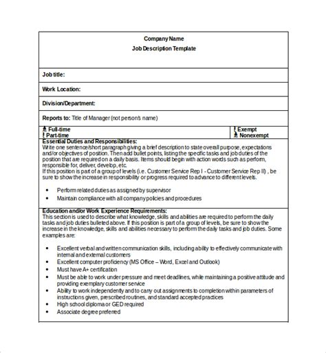 office manager job description template 10 free word pdf format