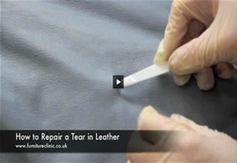 how to repair a small tear in leather couch how to repair a tear in leather