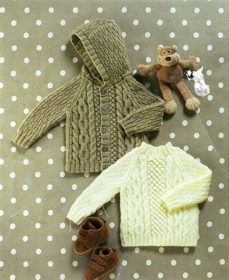 knitting pattern sweater cardigan cables worsted buttons baby childs aran jacket sweater knitting pattern pdf