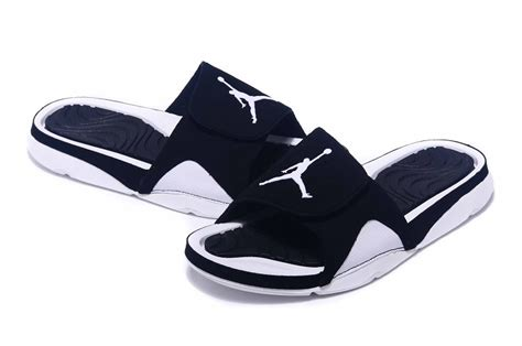 jordan house shoes 2016 air jordan hydro 4 black white slippers for sale