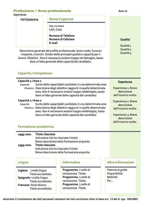 download modello curriculum vitae da compilare gratis cv modelli da scaricare modelli di curriculum vitae in
