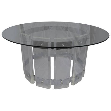 lucite glass top table for sale at 1stdibs