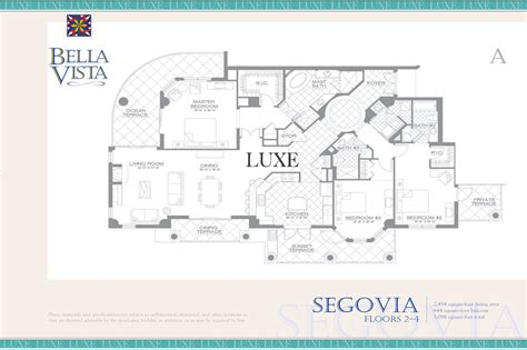 bella vista floor plans bella vista condos floor plan 2515 s atlantic ave 32118