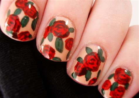 tulip flower nail art youtube spring floral nail art youtube