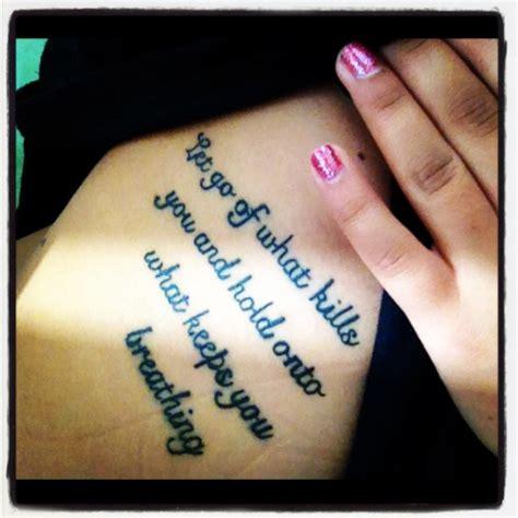 tattoo quotes on ribs tumblr rib tattoos on tumblr