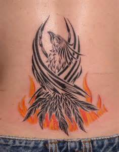 phoenix rising from ashes tattoo