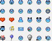 sherv net new simpsons msn pack msn emoticons display pics sherv net light blue custom emoticon pack