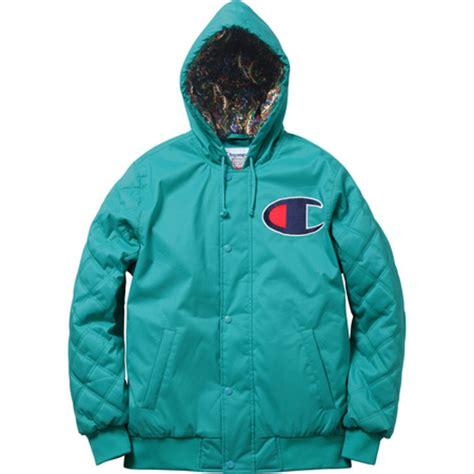 Jaket Zipper Hoodie Supreme Hitam Jaket Supreme Hitam chion x supreme zip up jacket pullover hoody freshness mag