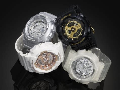 Baby G Ba 110 Black baby g steps up style with timepieces l etage