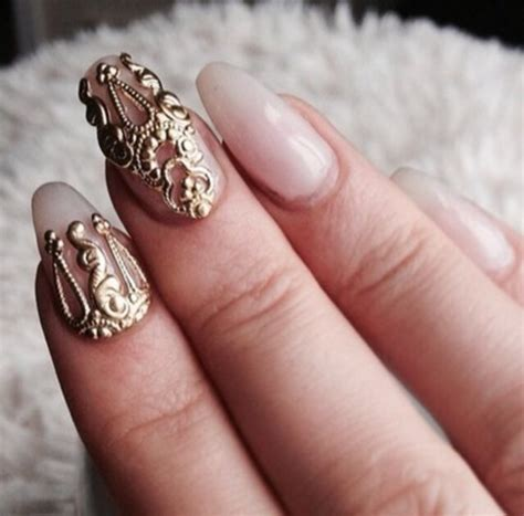 Nail Accessories by Jewels Nails Gold Ring Finger Nails Nail Accessories
