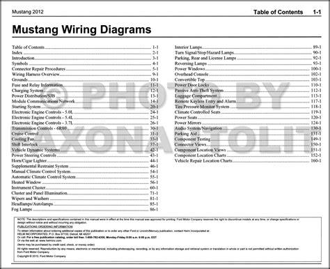 2012 ford mustang wiring diagram manual original