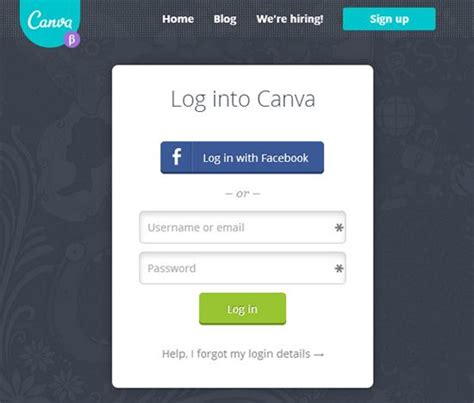 canva login page 34 best images about ui ux form on pinterest beautiful