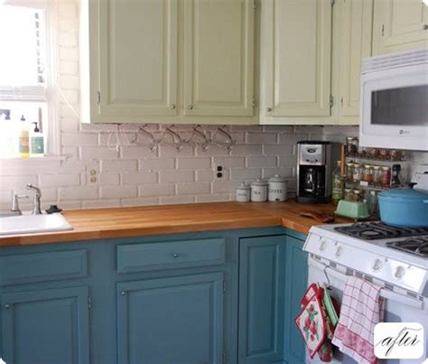 painting kitchen cabinets two different colors decor