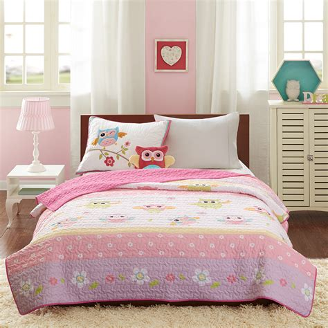 owl bedding twin dancing pink owl bedding twin quilt set bedspread plush