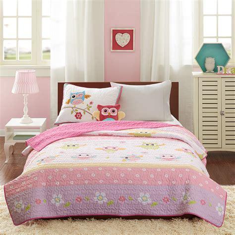 owl bedding set twin dancing pink owl bedding twin quilt set bedspread plush