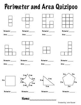 printable area and perimeter quiz 14 best images about math area perimeter on pinterest