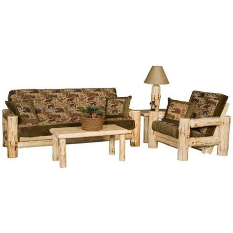 pine log collection wilderness futon frame log067