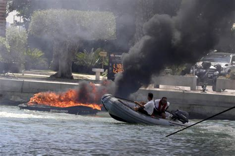 x fire boat jet ski and boat burst into flames in ibiza inferno