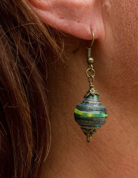 How To Make Paper Mache Earrings - 18 best papier m 226 ch 233 jewelry images on