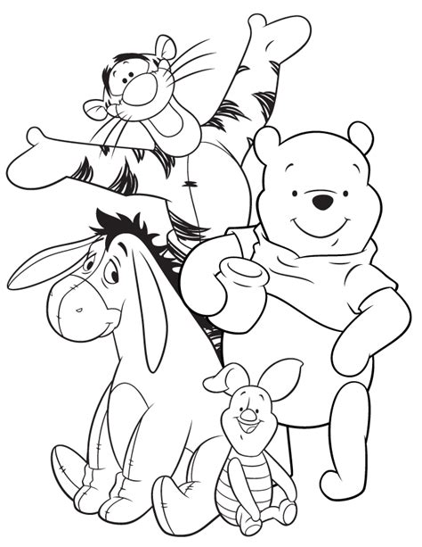 eeyore coloring pages freecoloring4u com