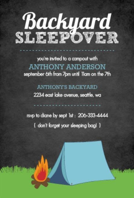 camp out invitations printable free backyard camp out activities amp crafts diy amp crafts that