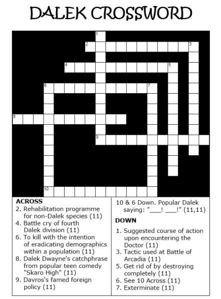 highly recommended film crossword dalek crossword sci fi funnies pinterest love it