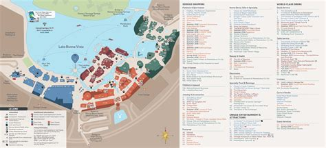 PHOTOS   Revised guide map format for Disney Springs with the opening of the Town Center