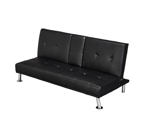 sofa bed cinema cinema 109cm black faux leather clic clac sofa bed