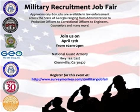 military recruitment job fair : team georgia