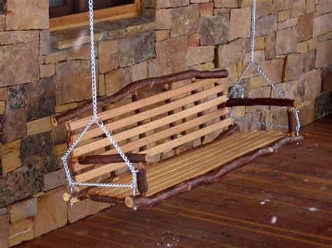 rustic porch swing custom rustic oak log porch swing by rocky mountain brush