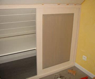 fabriquer et monter les portes coulissantes d un placard en bois bois