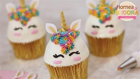 como decorar cupcakes con betun cupcakes de unicornio